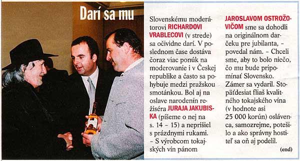 Život, 20/2003: Darí sa mu