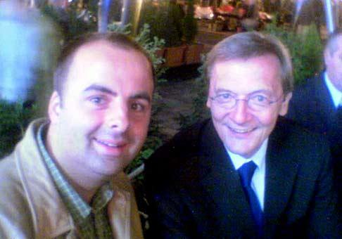 S rakúskym kancelárom Wolfgangom Schüsselom.