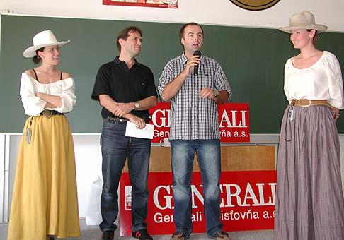 Otvorenie športového dňa spoločnosti GENERALI na kaskádach pri Galante