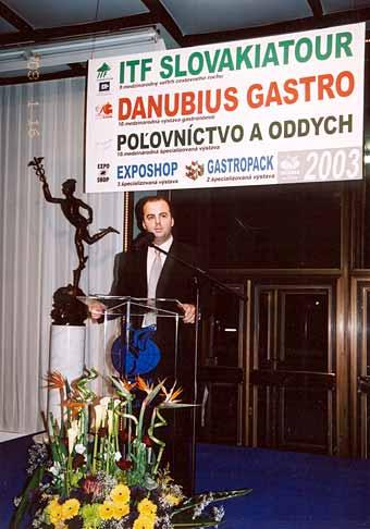 Slavnostné odovzdávanie ocenení ITF Slovakiatour a Danubiagastra v Bratislavskej Inchebe.