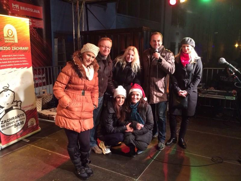 Podporil som občianske združenie Šanca pre nechcenych. 13.decembra.2013. Bratislava.