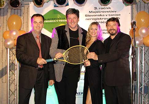 Galavečer MS v tenise neregistrovaných hráčov, hotel Dixon Banská Bystrica.