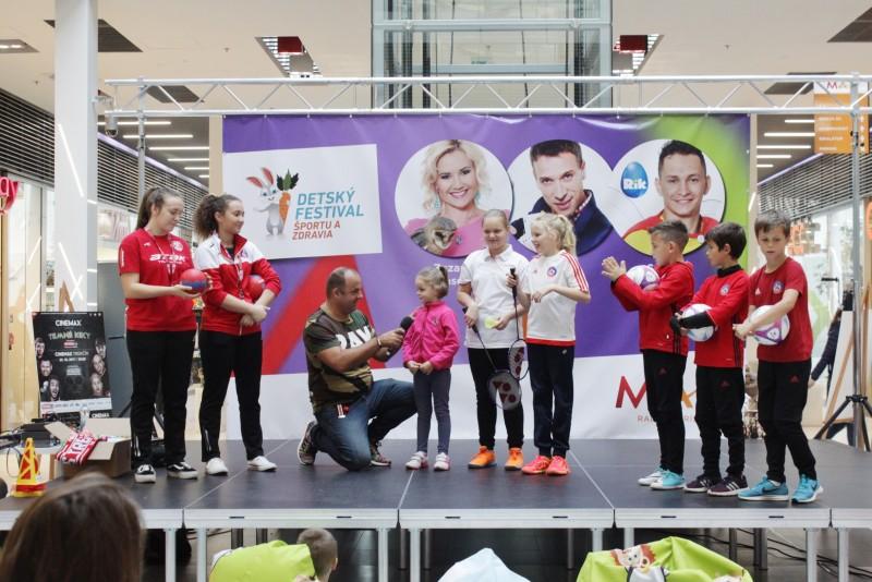 Detsky festival sportu a zdravia v ZOC MAX Trencin. 14.oktobra 2017. Trencin.
