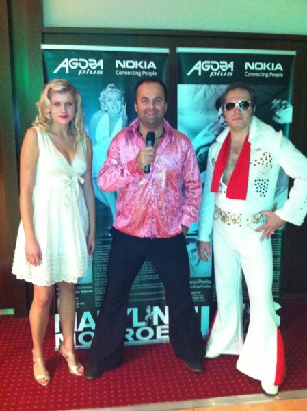 Elvis Presley a Marlin Monroe Christmas Party v Crowne Plaza. 9.12.2011, Bratislava.