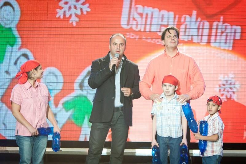 S Danom Danglom a deťmi sme vytvorili nový slovenský rekord. 16.11.2011, Bratislava.