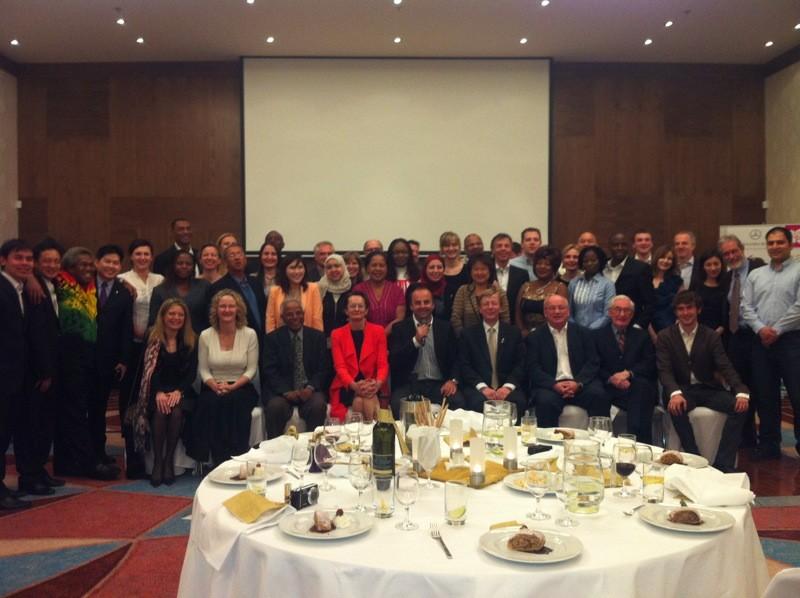 Moje prvé moderovanie v anglickom jazyku pre Slovenský olympijsky výbor v Double tree by Hilton. 31.3.2012, Bratislava.