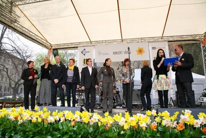 Koncert vďaky prišli podporiť aj pani ministerka zdravotníctva a starostovia bratislavských mestských častí. 13.4.2012, Bratislava