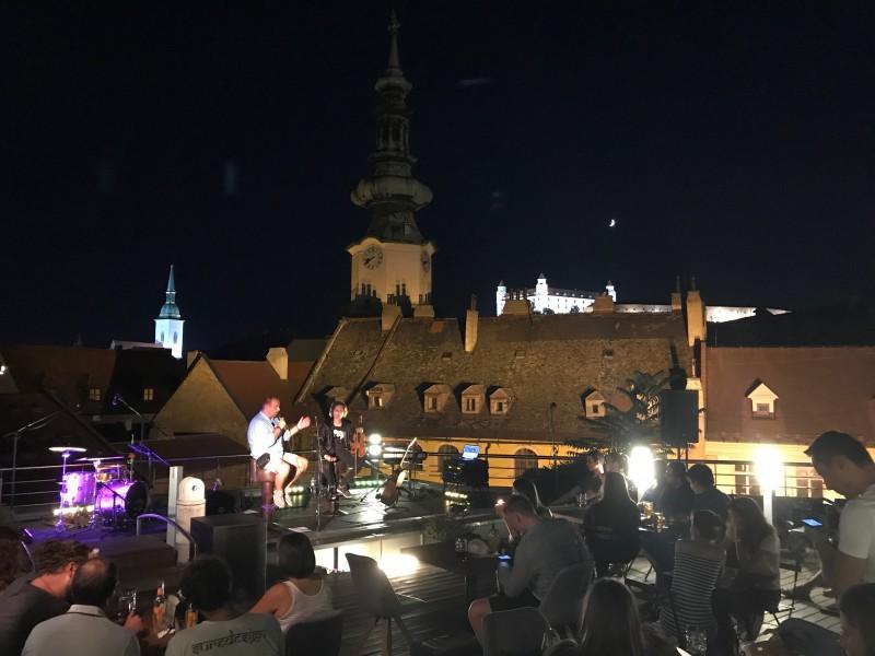 Talkshow s Filipom Jancikom pod holym nebom. 26. august.2017. Bratislava.