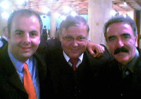 Deň kvality a technológií dňa 8.10.2002. Na fotke s Robom Kazíkom a gen. riaditelom Palma-Tumys Štefanom Buzinkaiom