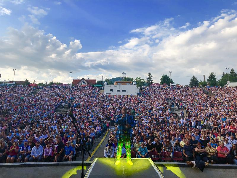 Amfik parada s Kollarovcami a Kandracovcami v amfiteatri Nitra. 20. maj 2018 Nitra