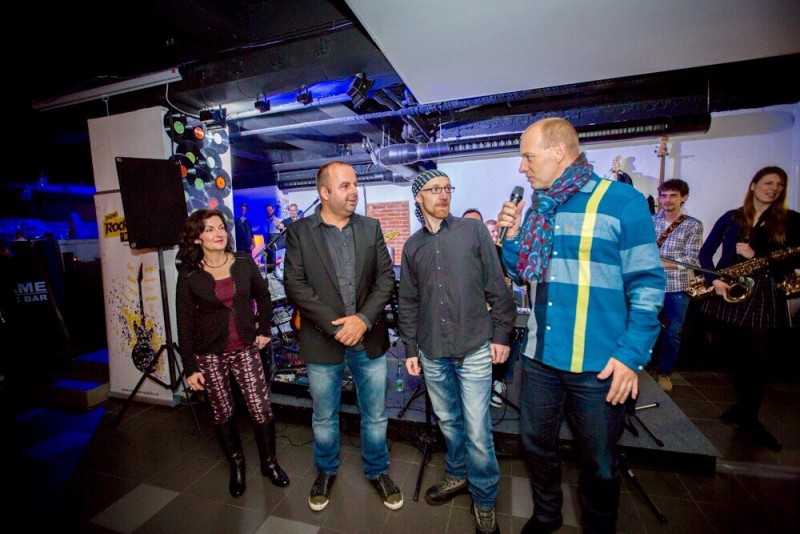 Otvorenie Flame Music Club s Beatiu Dubasovou, Johny Dale a Boris Kolar. 4.decembra.2014. Bratislava.
