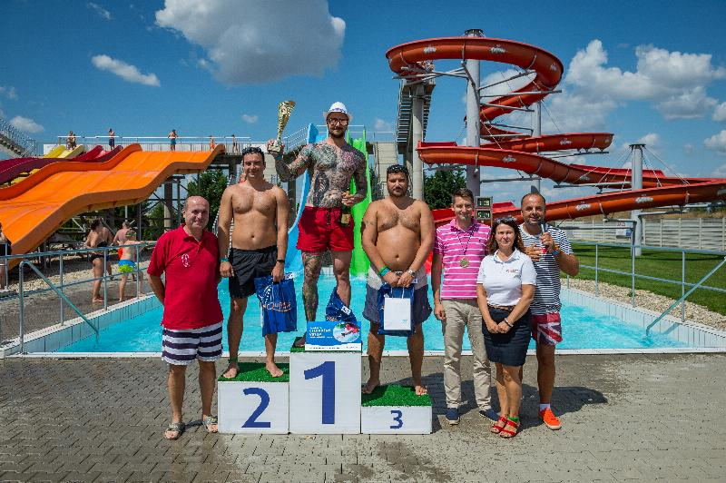 11.ročník amaterskych majstrovstiev Slovenska v jazde na tobogane v aquaparku Senec. 4.august, 2019. Senec.