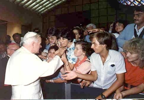 Prvýkrát v blízkosti pápeža.