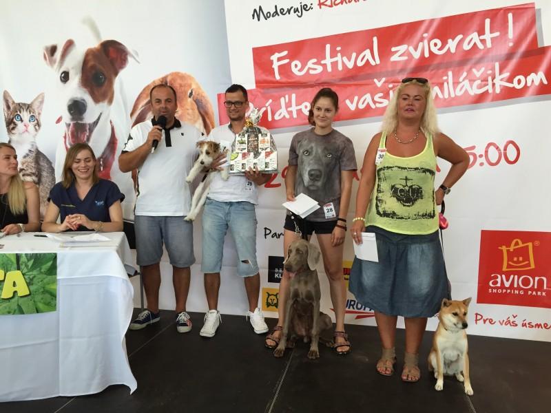 Festival zvierat. Sutaž o najmilšie zvieratko Bratislavy v Avione. 29.august.2015.Bratislava.