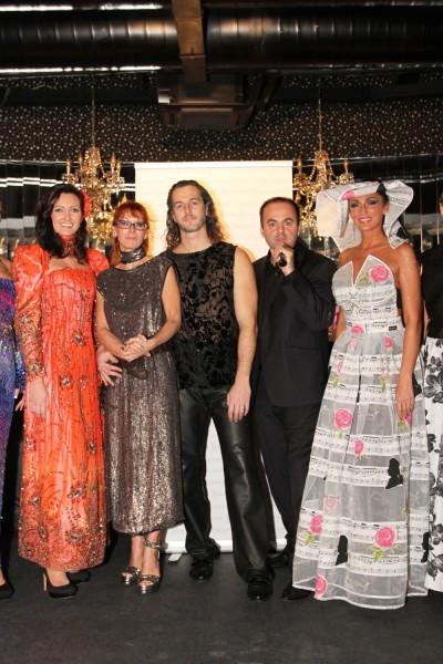 Módna prehliadka módnej návrhárky Rebeccy Deák Justh v bare Duplex. 11.decembra, 2012. Bratislava.