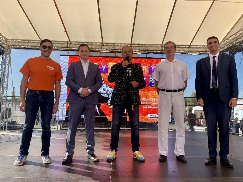 4.ročník Vedecky veltrh, namestie pred Euroveou. 13.septembra 2019 Bratislava.