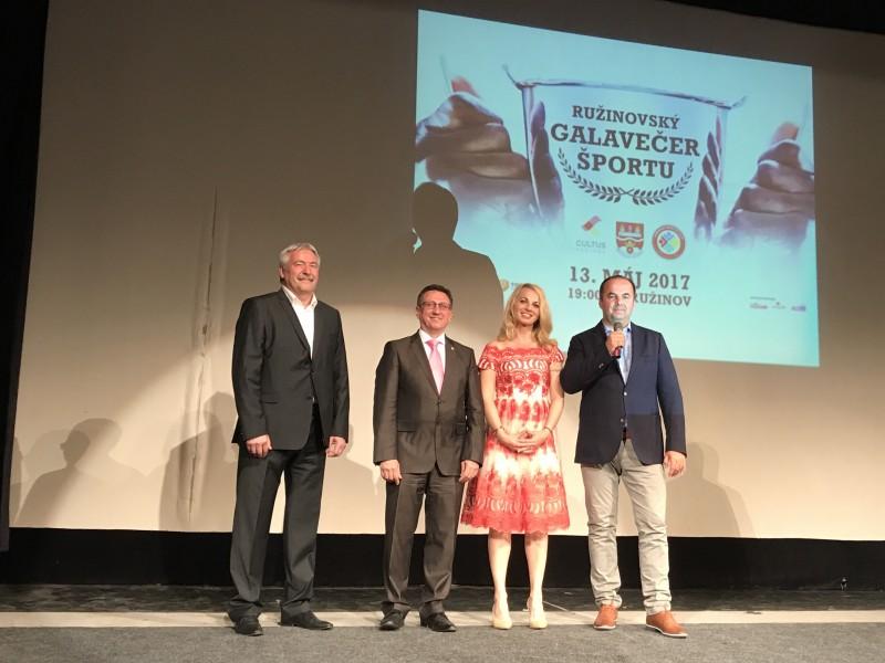 Galavecer Sportovec mestskej casti Bratislava Ruzinov 2017. 13.maj 2017. Bratislava.