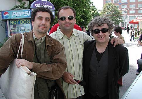 Martin Vaněk a Igor Adamec spolu so mnou na dni mlieka v Bratislave.