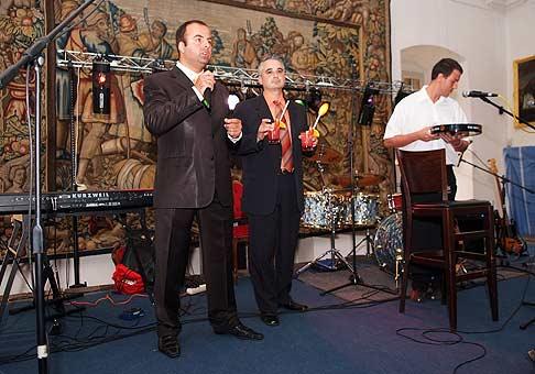 Bojnicky zámok, Huňadyho sála privítala približne 200 stovky pozvaných VIP hostí, ktorí sa zoznámili s projektom Tower BC v Prievidzi. 16.6.2008.