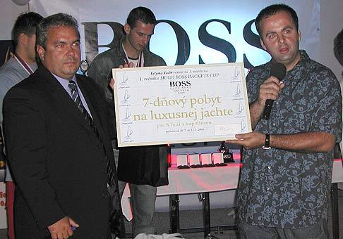 Odovzdávanie cien na prvom ročníku HUGO BOSS Rackets cup v NTC v Bratislave.