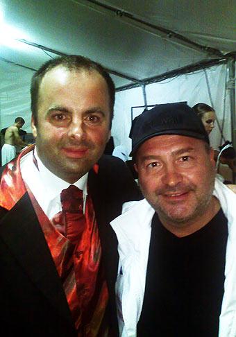 S Michalom Davidom na akcii OVB na Zvolenskom zámku 4.7.2008