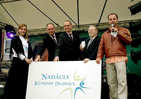 Otvorenie kúpeľnej sezóny v Dudinciach a krst Nadácie Kúpeľov Dudince. 6.5.2006.