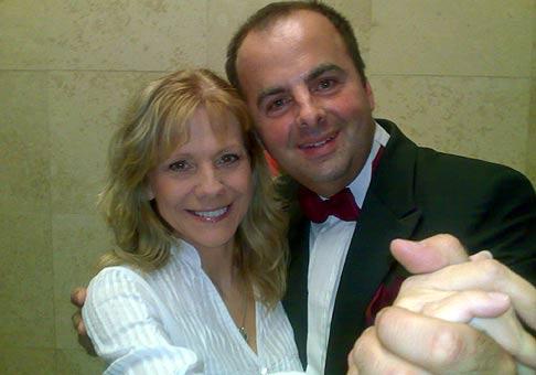 S Lenkou Filipovou v divadle Andreja Bagara v Nitre. 16.11.2008