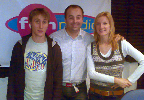 Ranná show Funradia s Adelou a Sajfom. 9.1.2008.