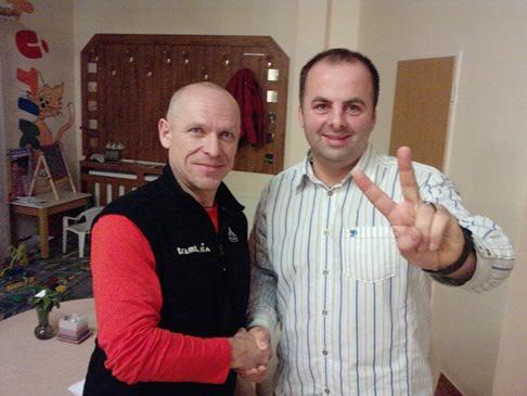 Peter Hámor, slovenský horolezec ktorý zdolal 7 najvyšších vrchov sveta na piatich kontinentoch, bol hosťom na akcii Isover. 21.1.2010 Bojnice.