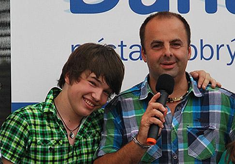 Martin Harich - výborný spevák a skvelý showman. Bratislava, 18.6.2011.