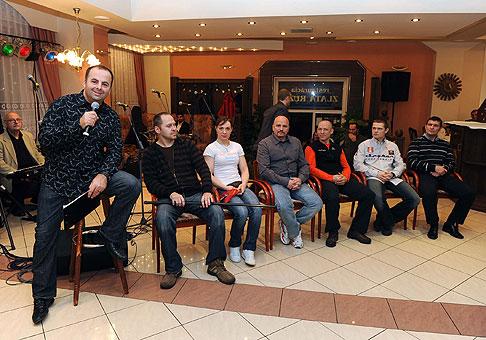 Veselá talkshow so známymi osobnosťami v hoteli Pod zámkom v Bojniciach pre spoločnosť Isover. 21.1.2010 Bojnice.