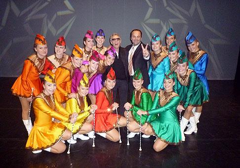 15. výročie spoločnosti Nitrazdroj v divadle Andreja Bagara v Nitre. S Jozefom Lauferom a najlepšími mažoretkami Diana zo Žiliny. 22.11.2009 Nitra.