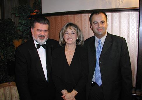 S manželmi Dvorskými v Casino cafe Reduta.