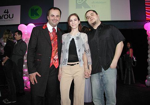 S jedinou hadiou ženou na Slovensku, Zuzanou a lídrom skupiny Desmod.