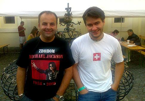 Marek Ztracený na piatom ročníku Skalica music Fest 2009. 4.júl.2009 Skalica.