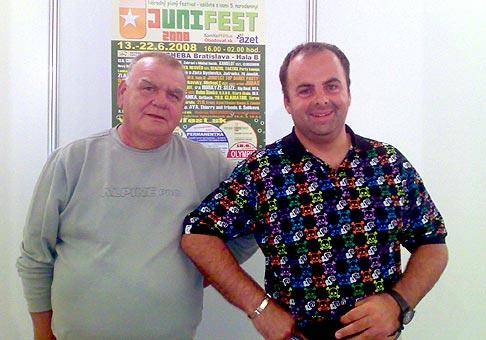 S Františkom Nedvědom na Junifeste. 14.6.2008.