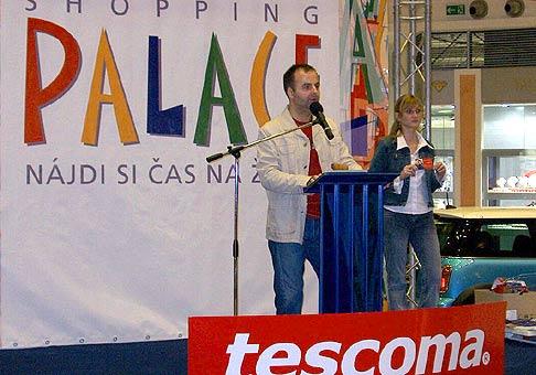 Live aukcie Shoping Palace Bratislava.