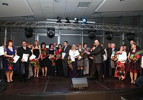 Poistforum ČSOB 2009 - odovzdávanie ocenení najúspešnejším pracovníkom. 6.3.2009 hotel Sitno Vyhne.