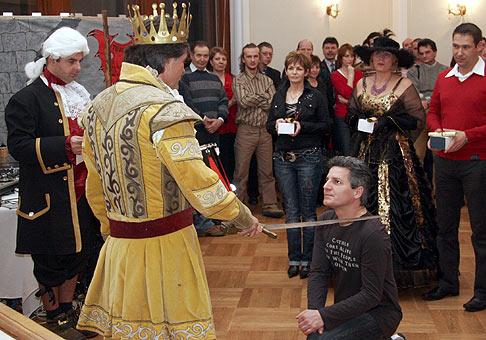 10. výročie spoločnosti Parkett Plus sa nieslo v znamení starých rytierskych tradícií na Smolenickom Zámku. 5.1.2008.