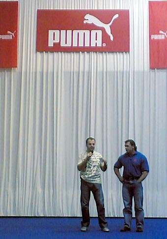 PUMA Športový víkend s majstrami sveta na Inchebe počas výstavy Šport. Január 2005.