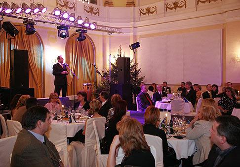 Vianočný večierok spoločnosti Respect Piešťany. 18.12.2009, Kursalon Piešťany.