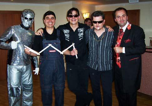 The Robots, Roman Pomajbo, Daniel Dangl a Peter Sklár. Hotel Kaskády 10. výročie spoločnosti Tondach 22.1.2007