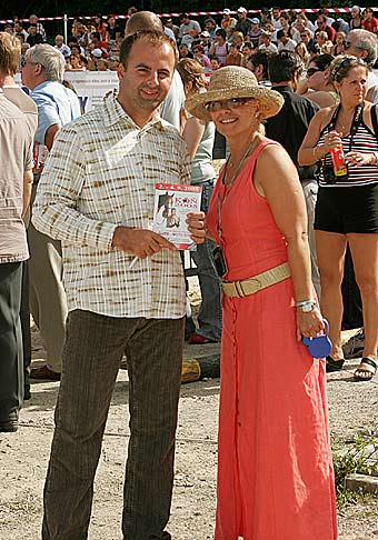 Na dražbe koní s Kamilou Magálovou v Trenčíne.